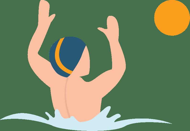 illustration d'un autre joueur de water-polo