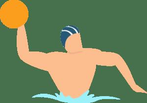 illustration d'un joueur de water-polo